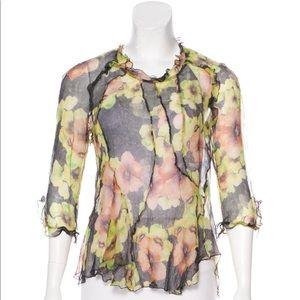 Isabel Marant Sheer Floral Silk RODD Top